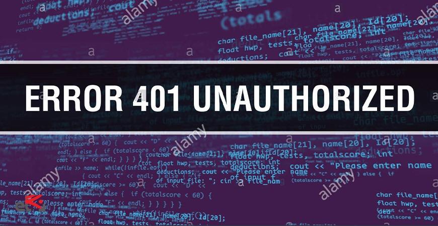 رفع خطای 401